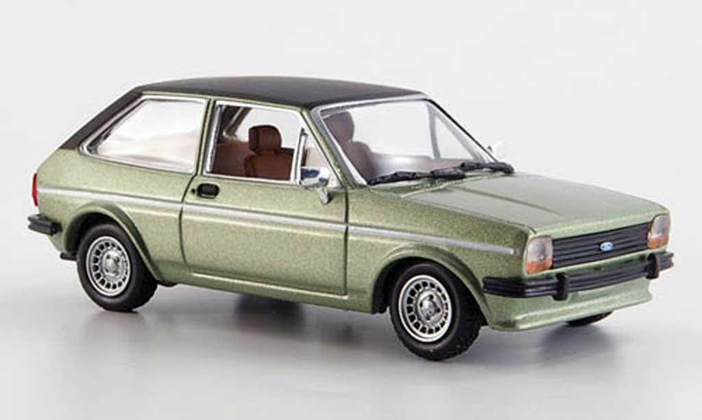 Ford Fiesta MKI 1/43 Solido lindgrun/noire 1978 miniature