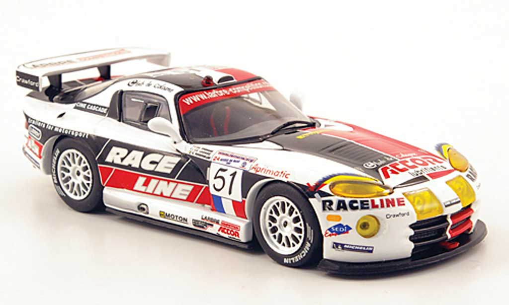 Dodge Viper 1/43 IXO No.51 Larbre Competition 24h Le Mans 2002 miniature