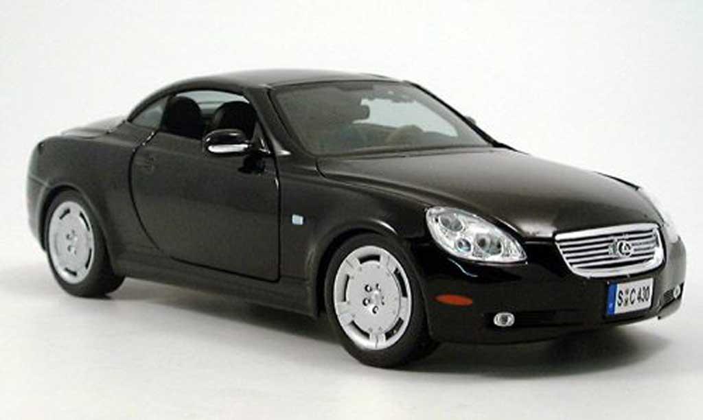 Lexus SC 430 1/18 Maisto noir toit ferme 2002 miniature