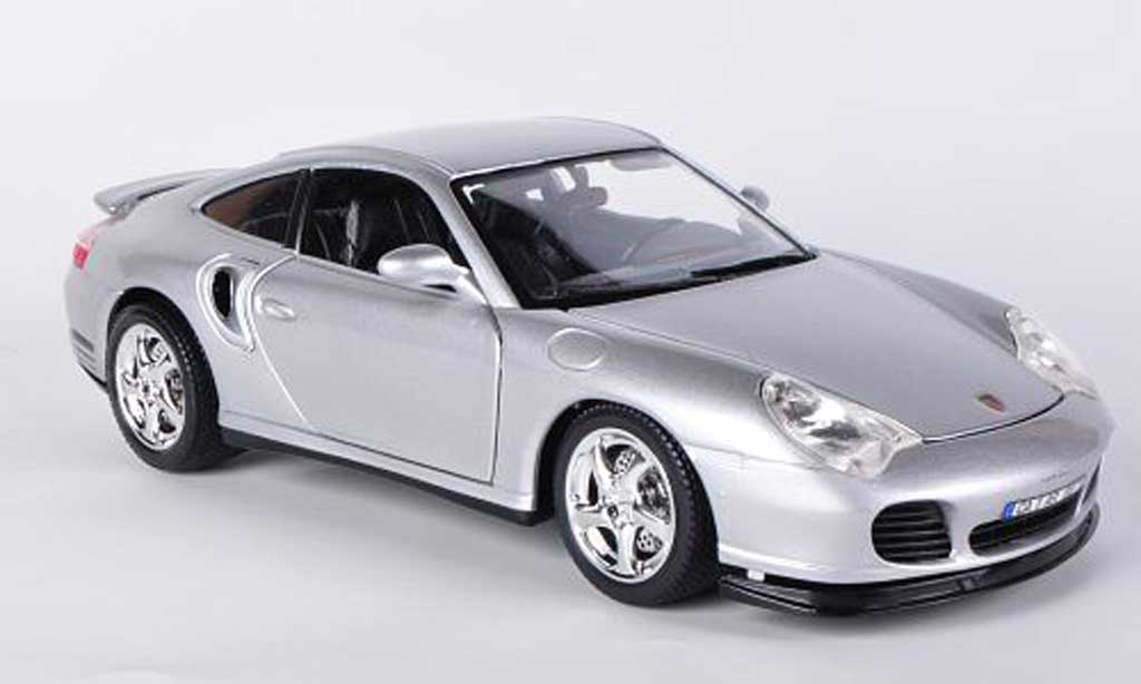 porsche 996 turbo silber burago modellauto 1 18 kaufen verkauf modellauto online. Black Bedroom Furniture Sets. Home Design Ideas