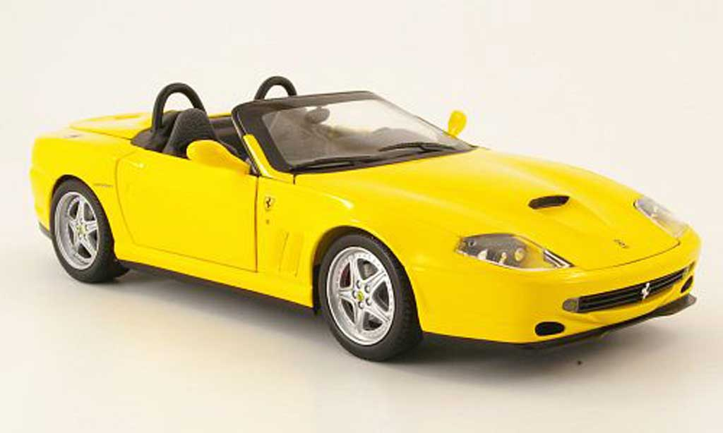 Ferrari 550 Barchetta 1/18 Hot Wheels giallo miniatura
