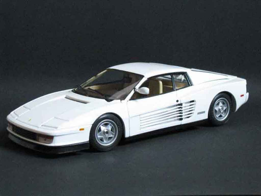 Ferrari Testarossa Miami Vice White Burago Diecast Model
