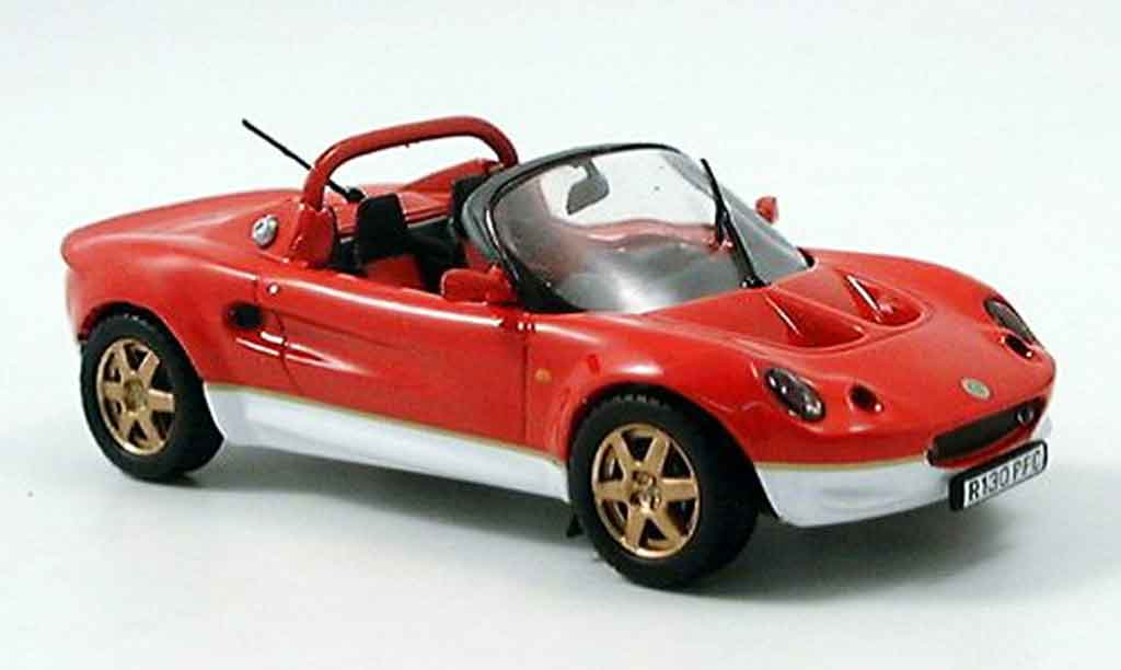 Lotus Elise 1/43 Maxi Car 49 rouge blanche miniature