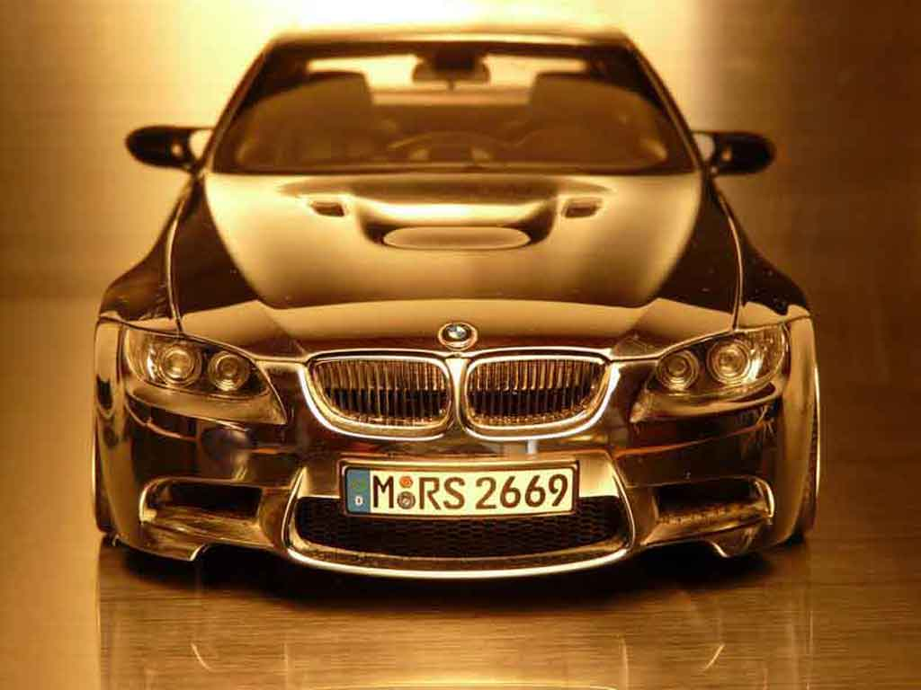 Bmw M3 E92 1/18 Kyosho full chrome jantes 18 pouces tuning diecast model cars