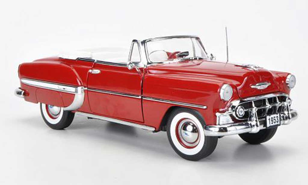 Chevrolet Bel Air 1953 1/18 Sun Star Cabriolet rouge miniature