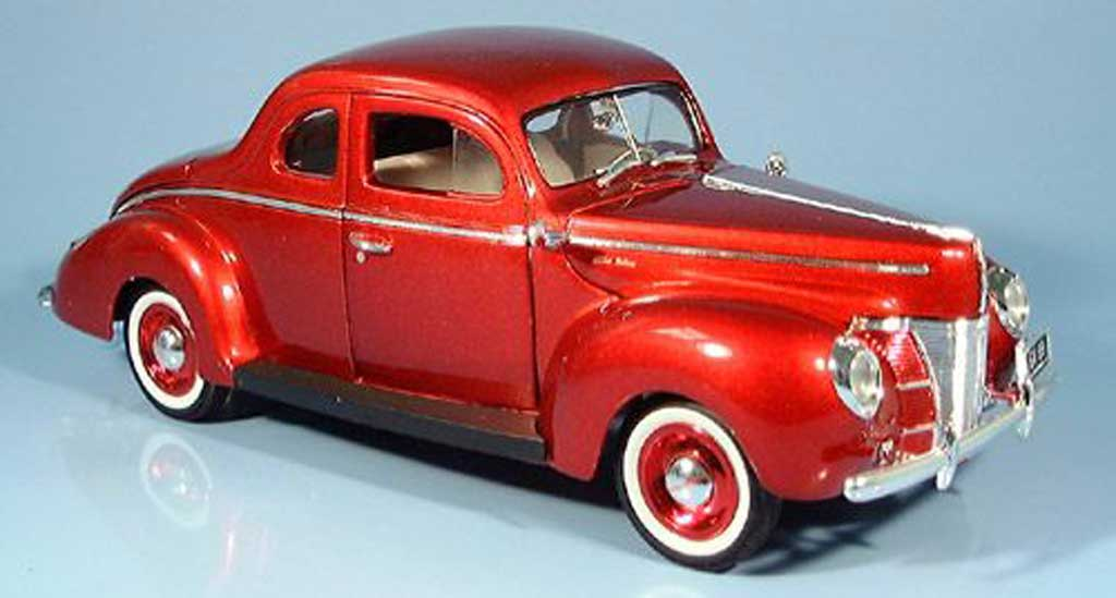 Ford 1940 1/18 Motormax Coupe rouge miniature