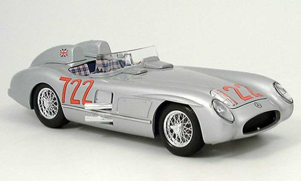 Mercedes 300 SLR 1/18 Burago No.722 S.Moss / D.Jenkinson Mille Miglia 1955 diecast