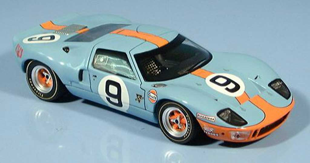 Ford GT40 1/43 IXO GT 40 No. 9 Sieger Le Mabs Rodriguez-Bianchi 1968 miniature