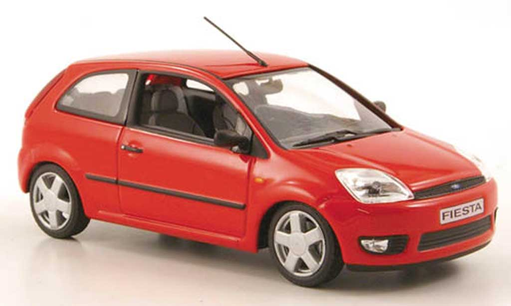 Ford Fiesta 2002 1/43 Minichamps rouge 3-portes miniature
