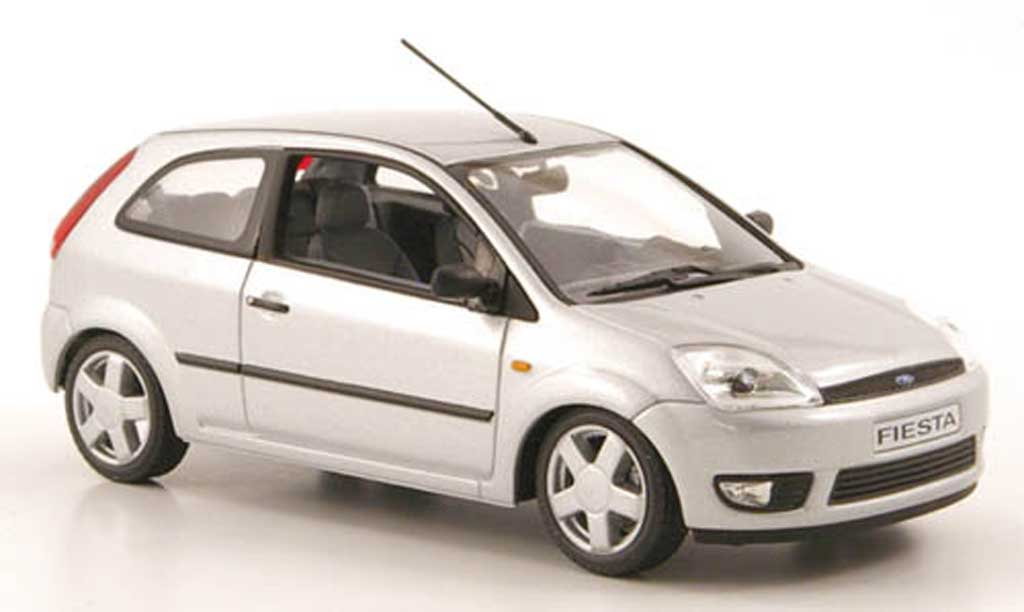Ford Fiesta 2002 1/43 Minichamps grey 3-portes diecast model cars