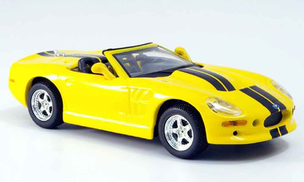 Shelby Series 1 1/43 Maxi Car jaune miniature