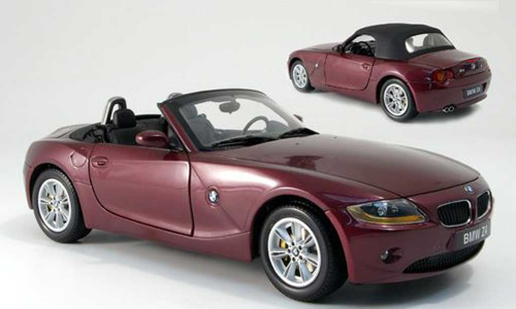 bmw z4 rot avec capote schwarz kyosho modellauto 1 18 kaufen verkauf modellauto online. Black Bedroom Furniture Sets. Home Design Ideas