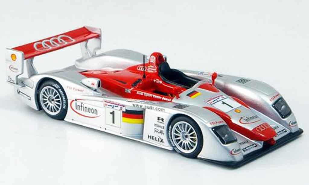 Audi R8 2002 1/43 IXO Biela Kris Sieger diecast