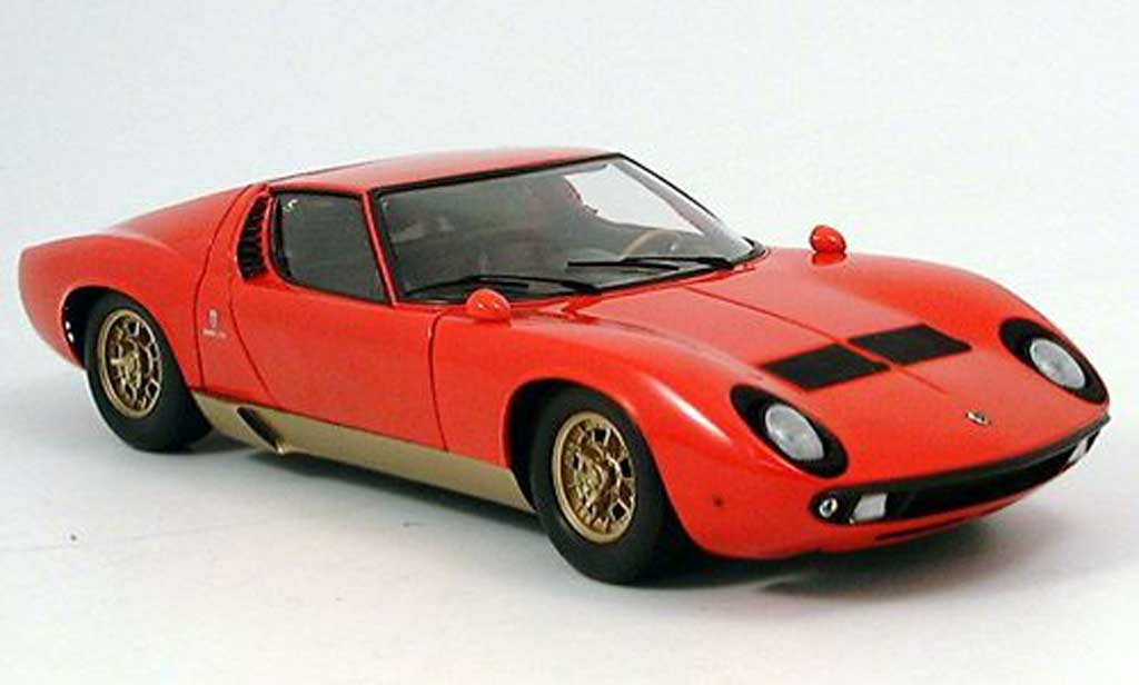 Lamborghini Miura P400 1/18 Kyosho rouge 1974 miniature