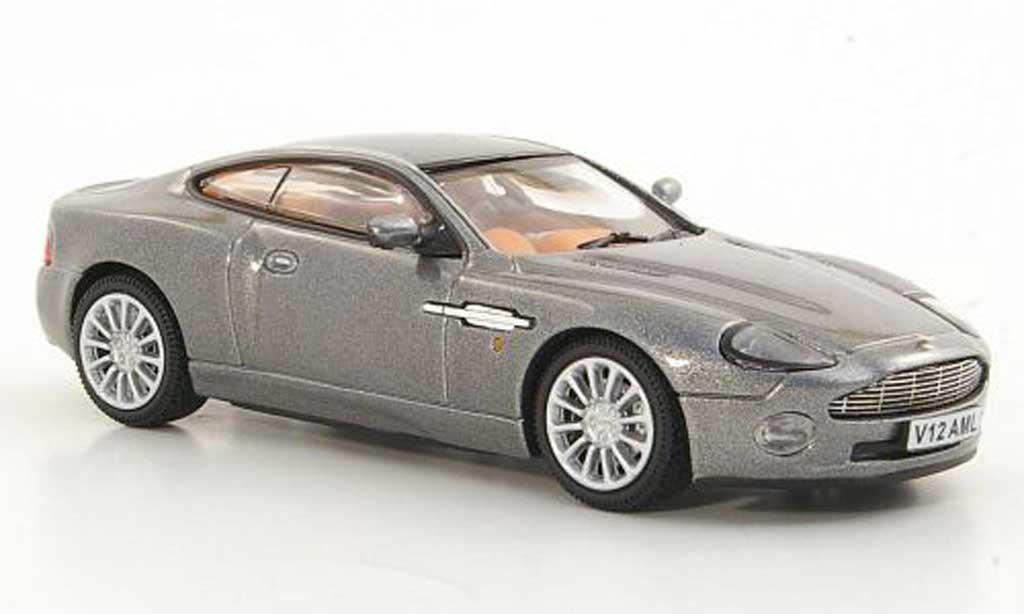 aston martin vanquish miniature grise rhd 2002 vitesse 1 43 voiture. Black Bedroom Furniture Sets. Home Design Ideas