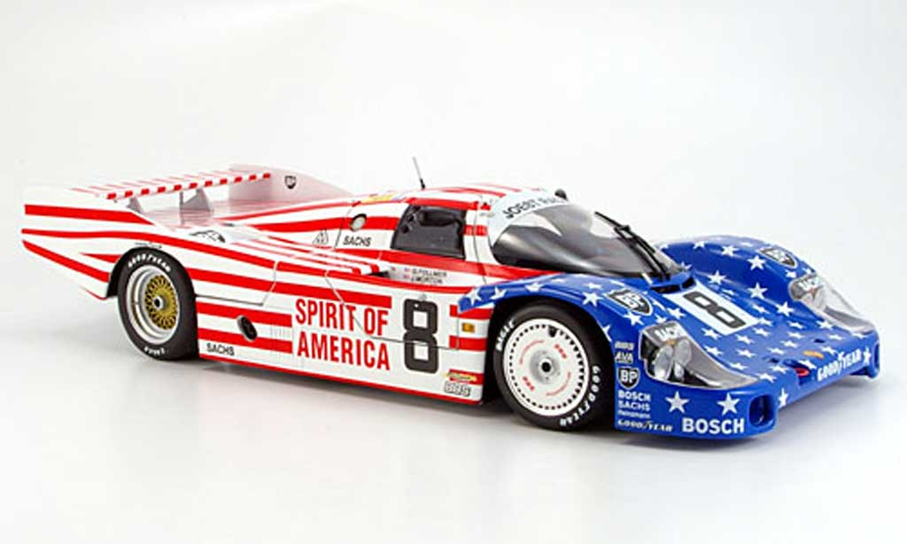 Porsche 956 1986 1/18 Minichamps l no.8 stars and stripes le mans miniature