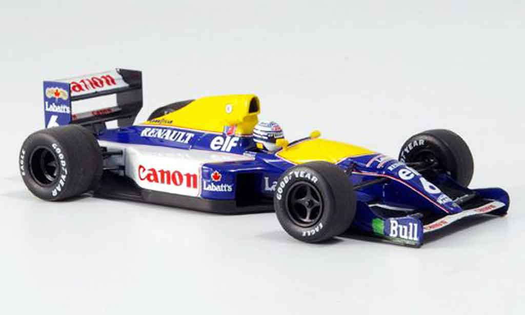 Renault F1 1/43 Minichamps williams fw14 patrese 1991 miniature