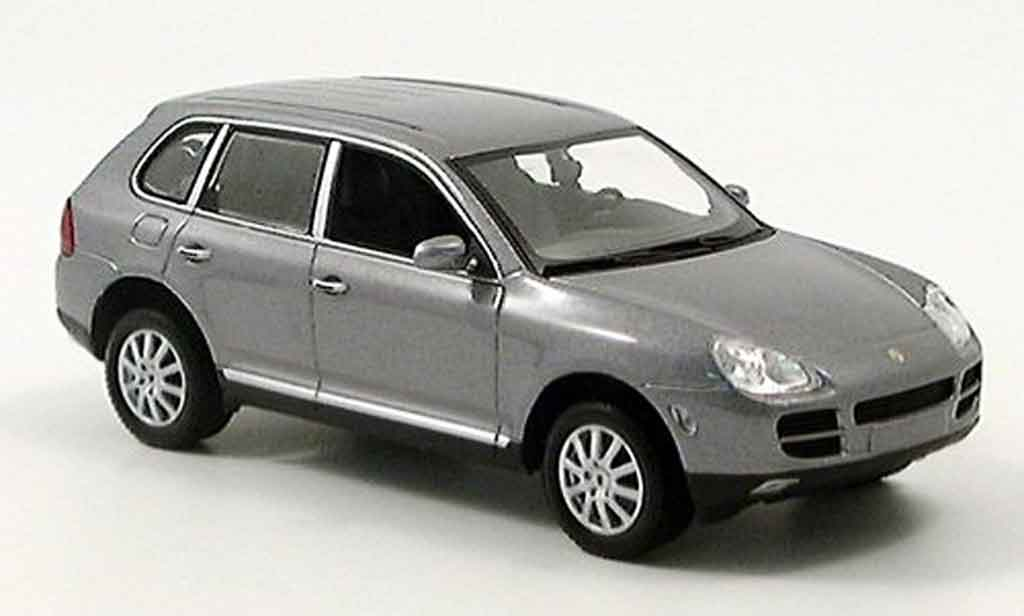 Porsche Cayenne 1/43 Minichamps V6 grey 2003 diecast model cars