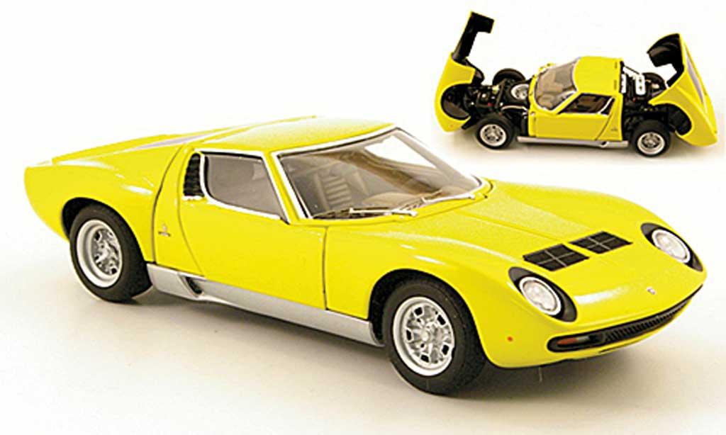 Lamborghini Miura Sv Yellow Autoart Diecast Model Car 1 43 Buy
