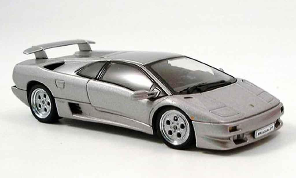 Lamborghini Diablo 1/43 Autoart coupe vt grise metallisee miniature