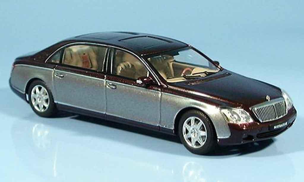 Maybach 62 1/43 Autoart LWB grise rouge miniature