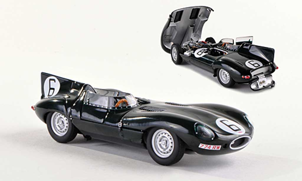Jaguar D-Type 1955 1/18 Autoart 1955 No.6 Hawthorn/Bueb 24h Le Mans miniature