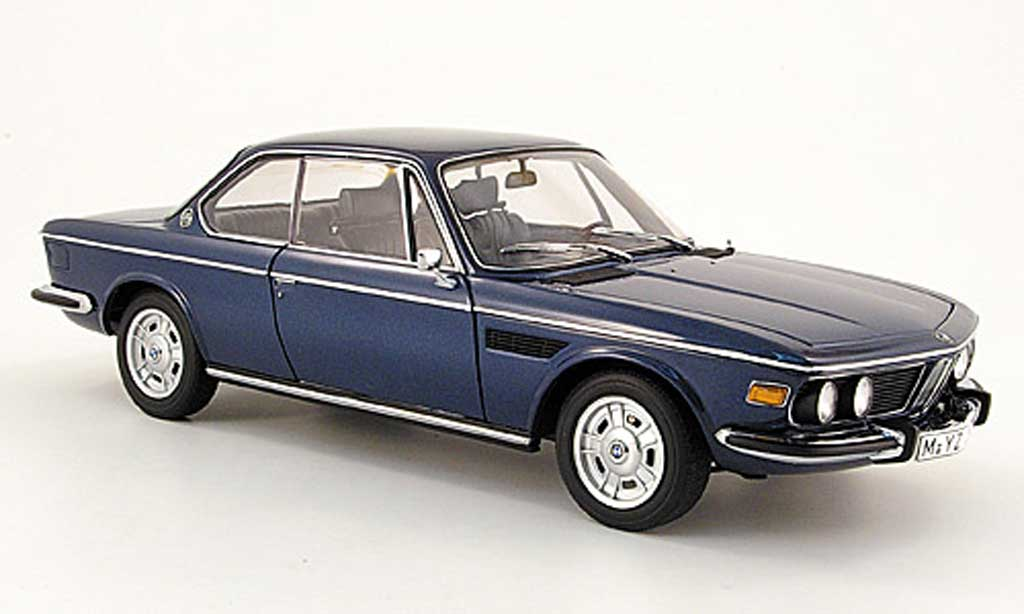 bmw 3 0 csi miniature e9 coupe bleu 1971 autoart 1 18. Black Bedroom Furniture Sets. Home Design Ideas
