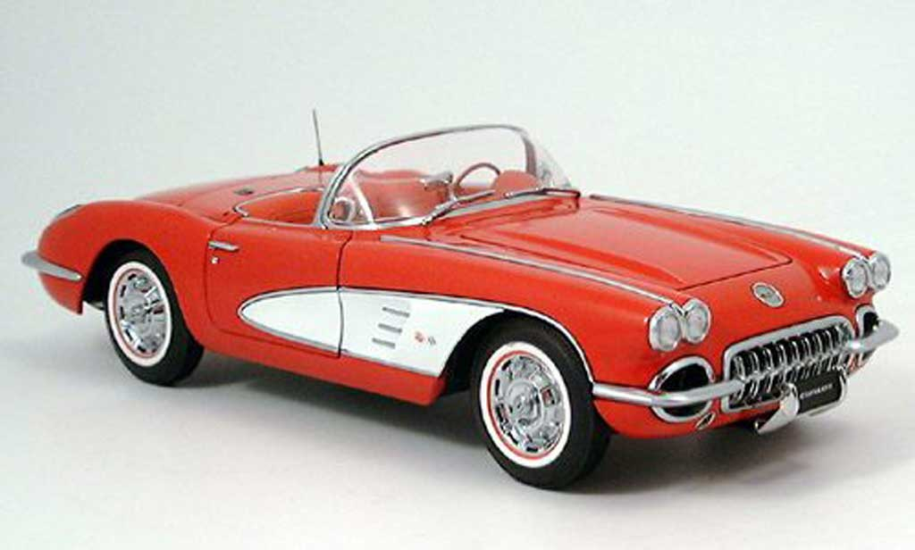 Chevrolet Corvette C1 1/18 Autoart red 1959 diecast model cars