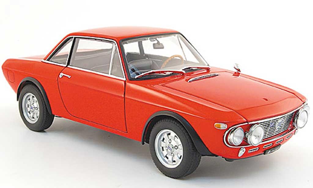 Lancia Fulvia 1/18 Autoart 1.6 hf fanalone rouge miniature