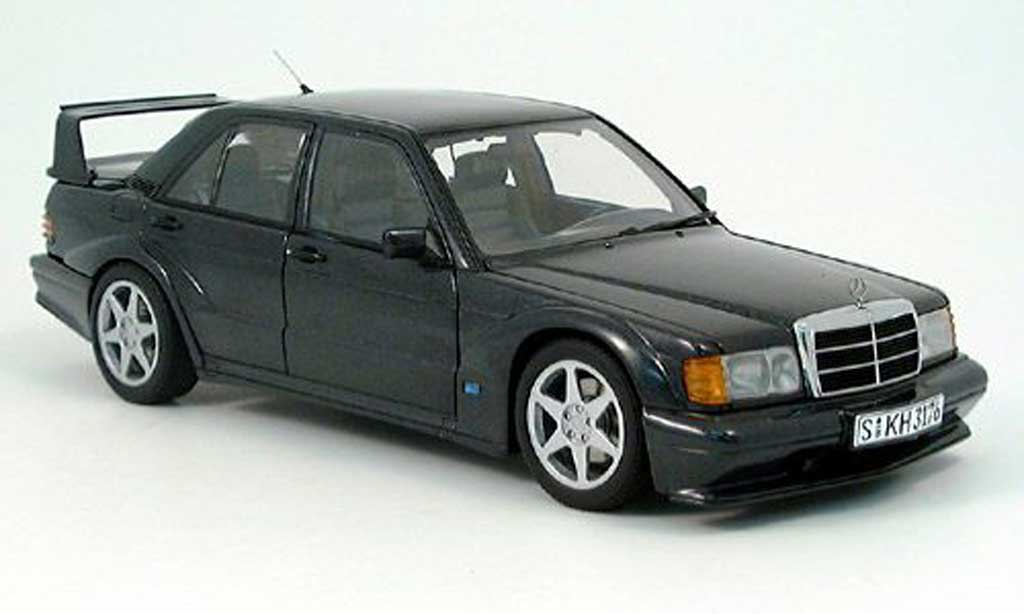 Mercedes 190 Evo 1/18 Autoart E 2.5-16V EVO 2 (W201) black diecast model cars