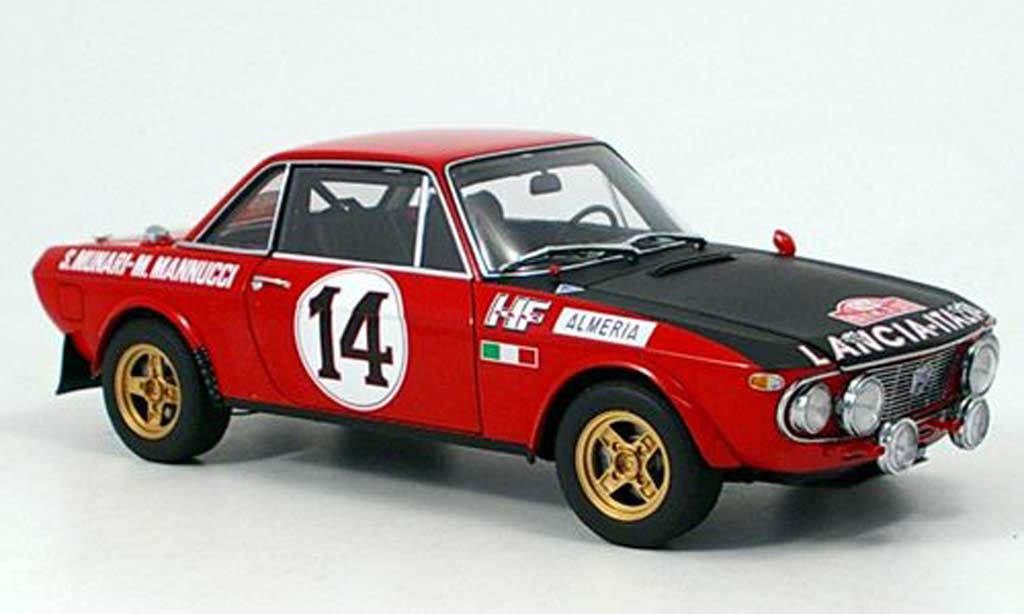 Lancia Fulvia 1/18 Autoart 1.6 hf munari-man. 1972 miniature