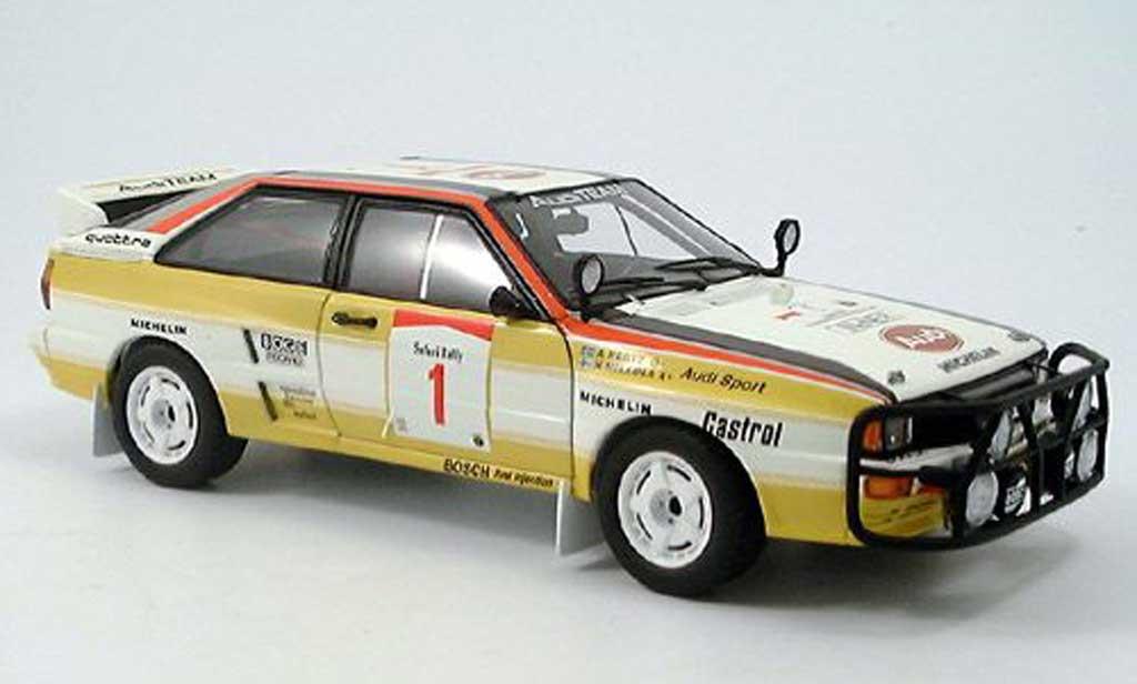 Audi Quattro Rallye no.1 h. mikkola/a. hertz safari 1984 Autoart. Audi Quattro Rallye no.1 h. mikkola/a. hertz safari 1984 miniature 1/18
