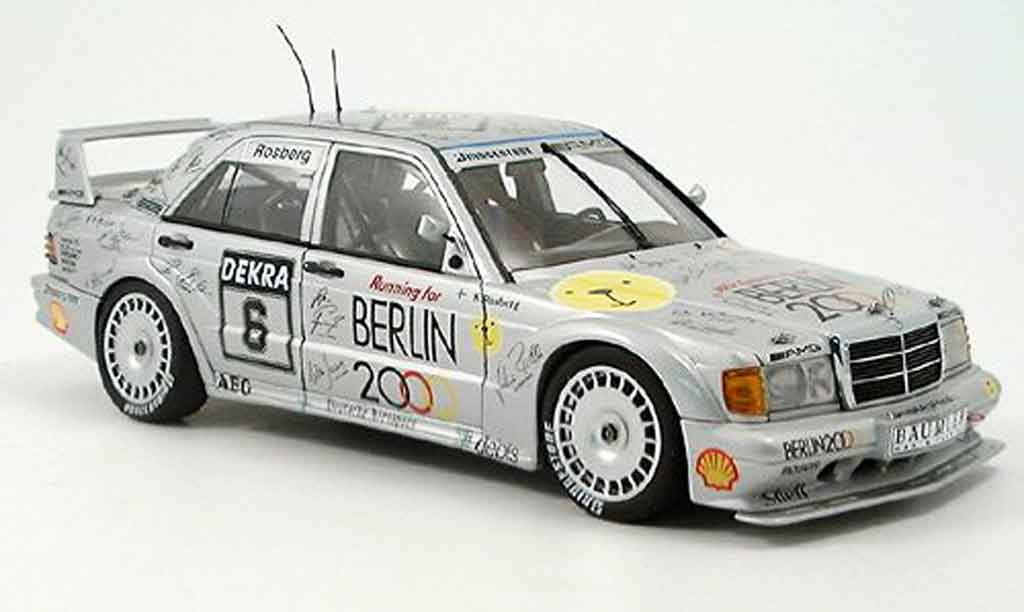 Mercedes 190 E 1/18 Autoart 2.3 16 v evo 2 rosberg dtm 1992