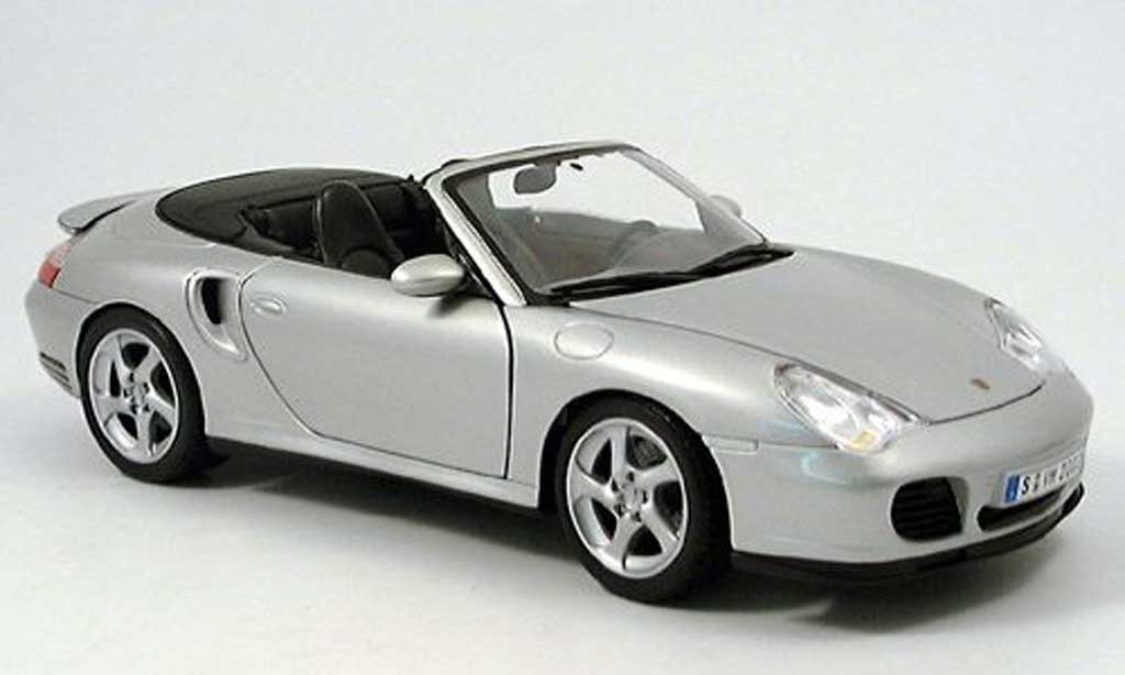 Porsche 996 Turbo 1/18 Maisto cabriolet grey 2003 diecast model cars