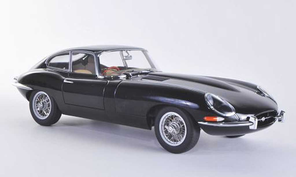 jaguar type e miniature series 1 coupe noire rhd autoart 1 18 voiture. Black Bedroom Furniture Sets. Home Design Ideas
