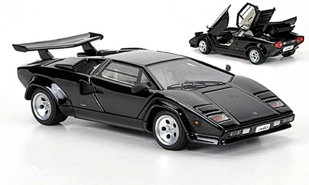 lamborghini countach 5000 s miniature noire autoart 1 43 voiture. Black Bedroom Furniture Sets. Home Design Ideas