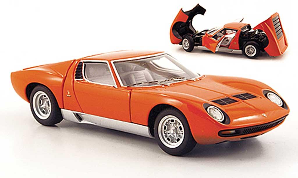 Lamborghini Miura Sv Orange Autoart Diecast Model Car 1 43 Buy