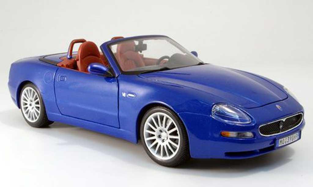 Maserati GT Spyder 1/18 Burago bleu 2003 miniature