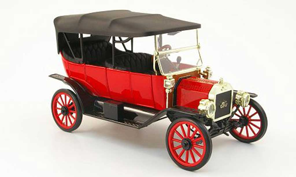 Ford Model T 1/18 Eagle touring rouge/noire 1913 miniature