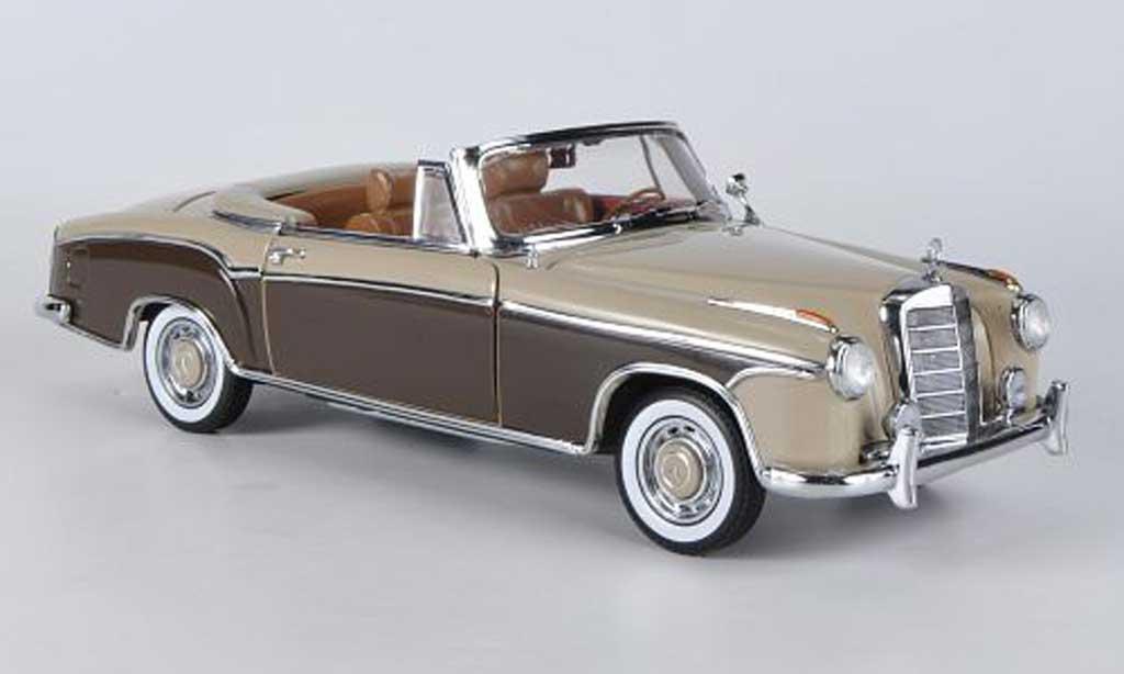 Mercedes 220 1/18 Sun Star SE Cabriolet beige/marron 1958 miniature