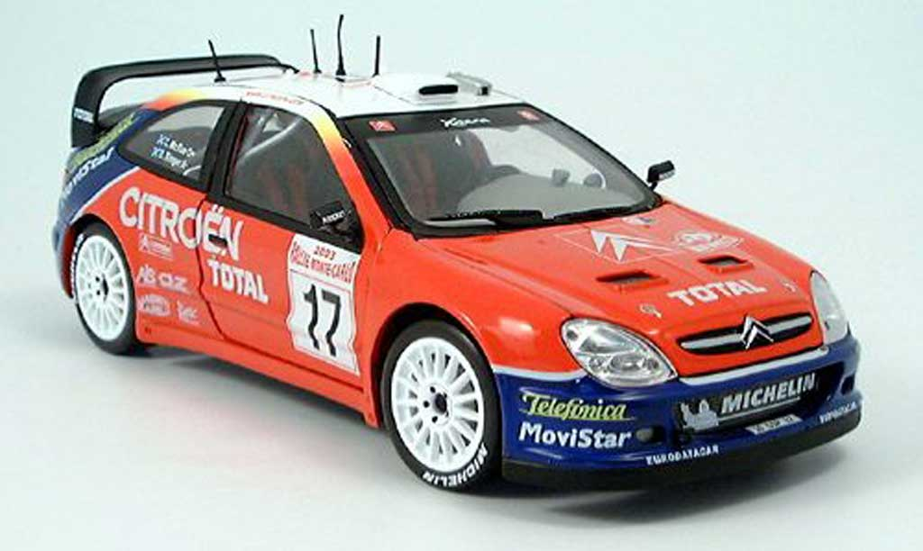 Citroen Xsara WRC 2003 1/43 Sun Star No.17 Total Rally Monte Carlo C.McRae/D.Ringer miniature