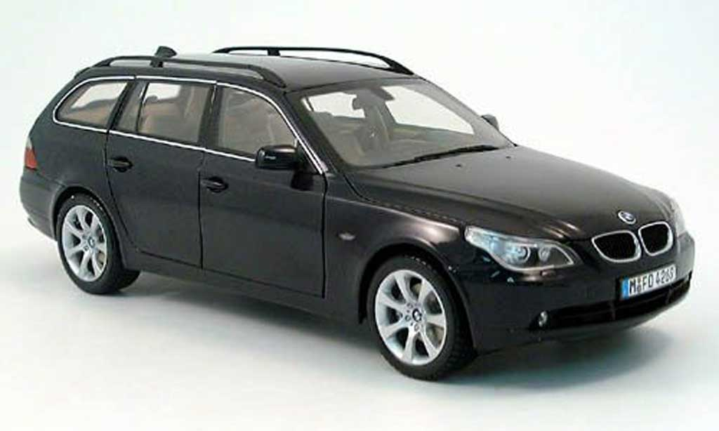 bmw 525 e61 miniature d touring bleu 2004 kyosho 1 18 voiture. Black Bedroom Furniture Sets. Home Design Ideas