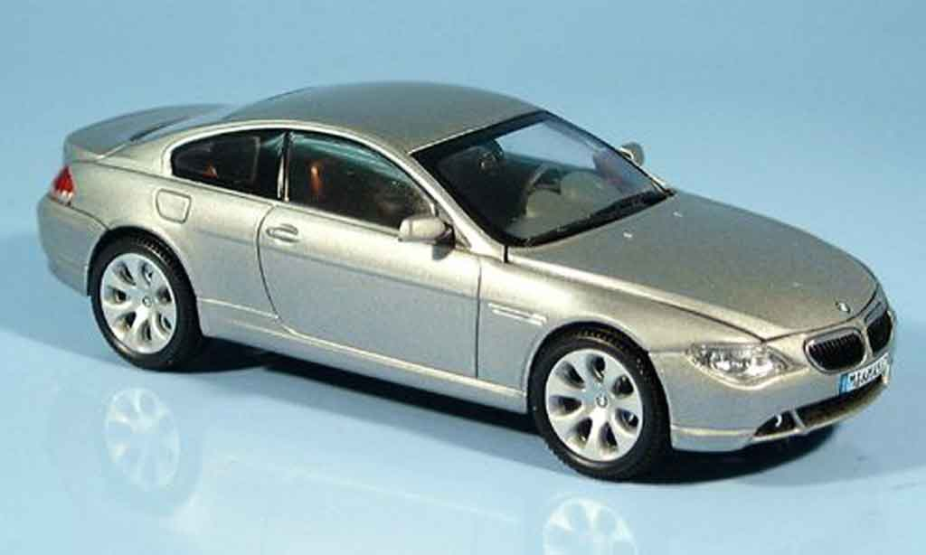 Bmw 635 E63 1/43 Kyosho d Coupe grey metallisee 2003 diecast model cars