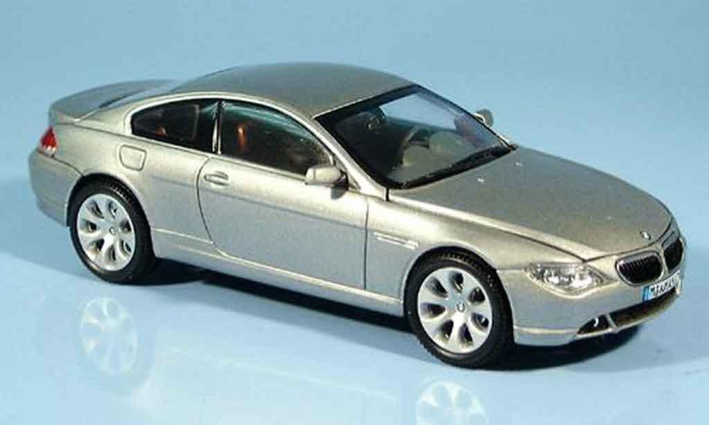 Bmw 635 E63 1/43 Kyosho d Coupe grigia metallisee 2003 miniatura
