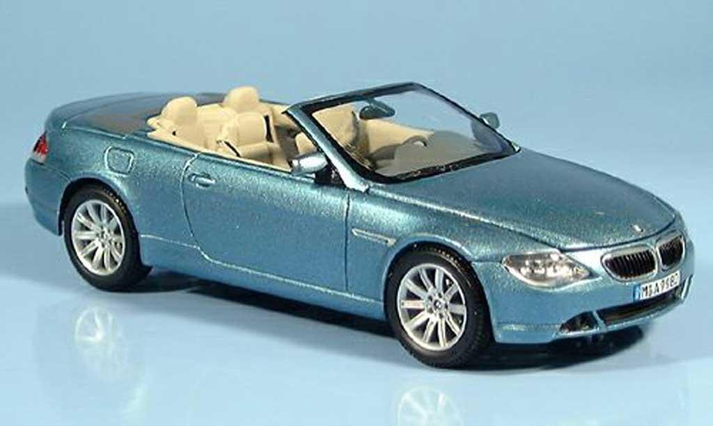 Bmw 650 E64 1/43 Kyosho Cabrioletbleu 2004 miniatura