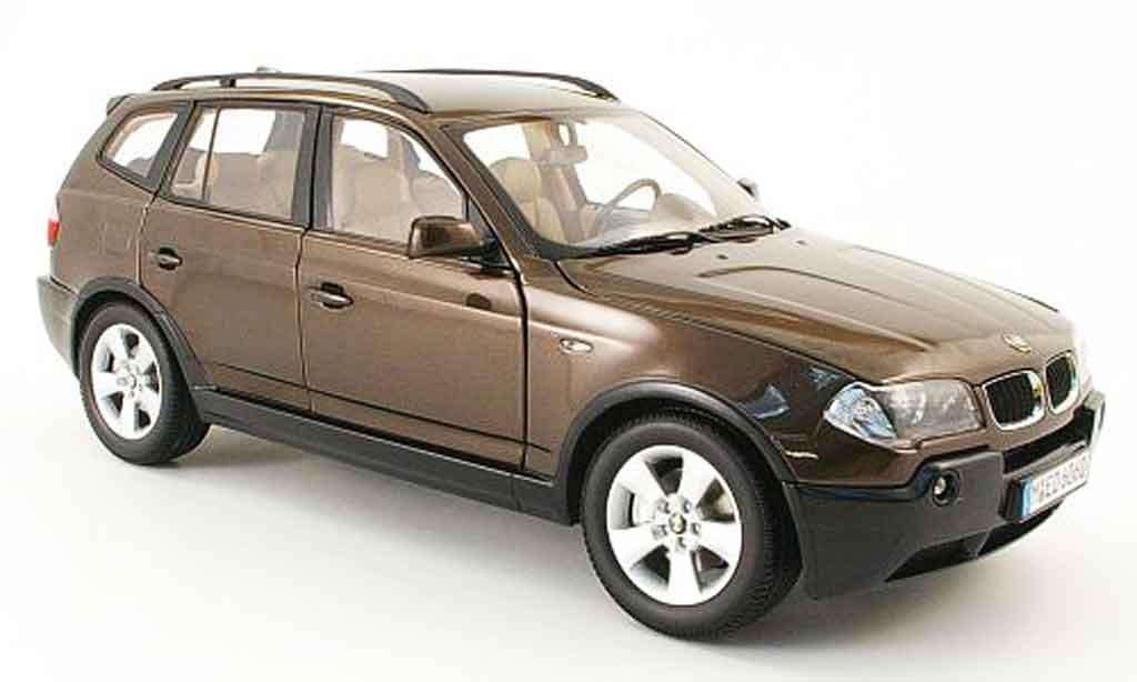 Bmw X3 E83 1/18 Kyosho marron 2003 miniature