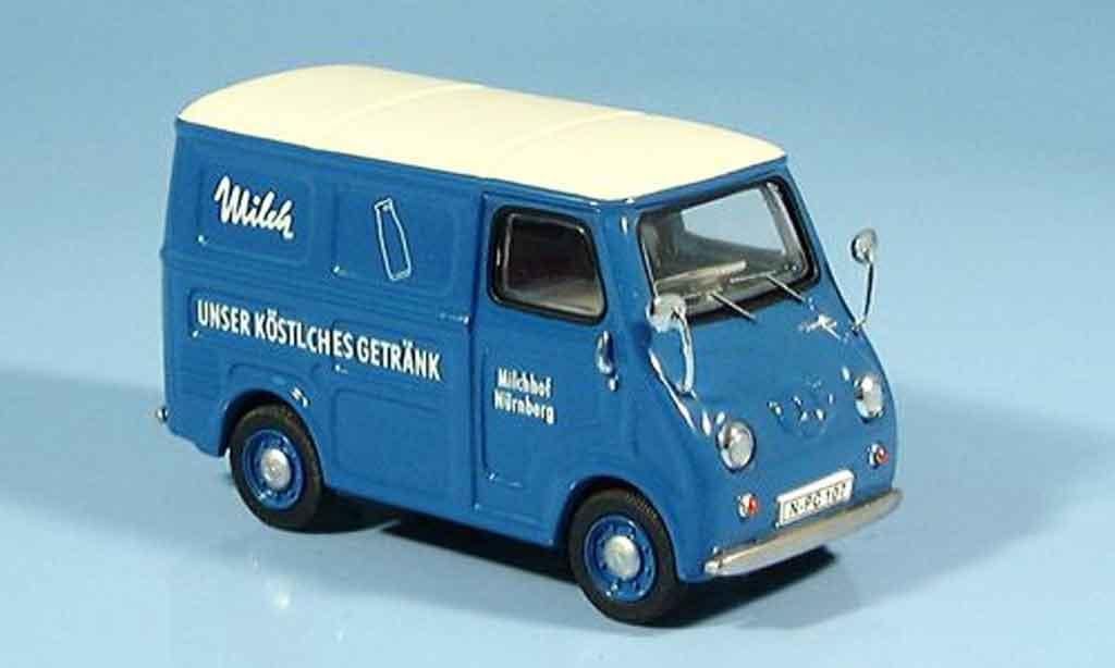Goggomobil TL 1/43 Premium Cls 250 Kasten Milchhof bleu miniature