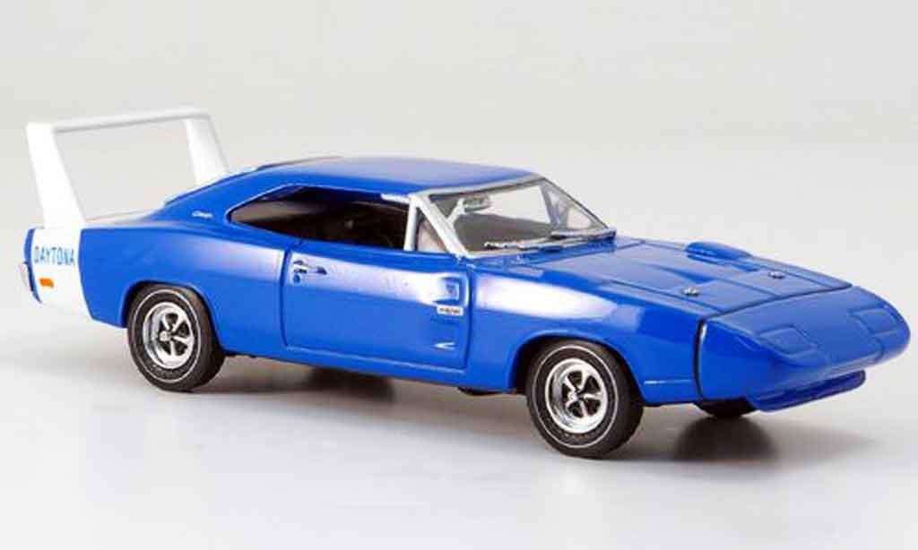 Dodge Charger 1969 1/43 Eagle Daytona bleu avec blancheem Heckspoiler miniature