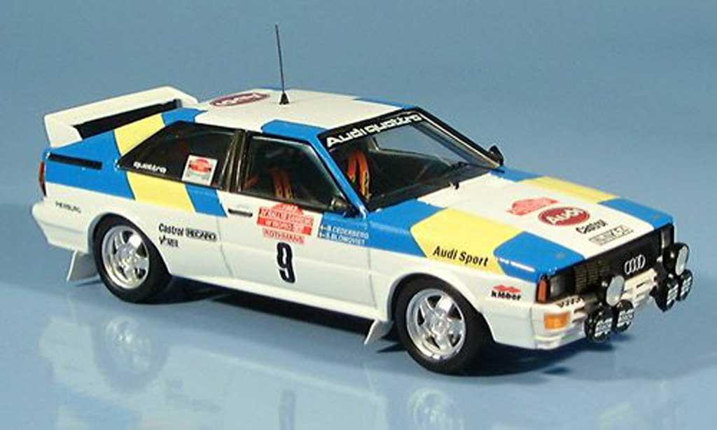 Audi Quattro 1/43 Trofeu Sieger San Remo Blomquist-Cedeberg 1982 miniature