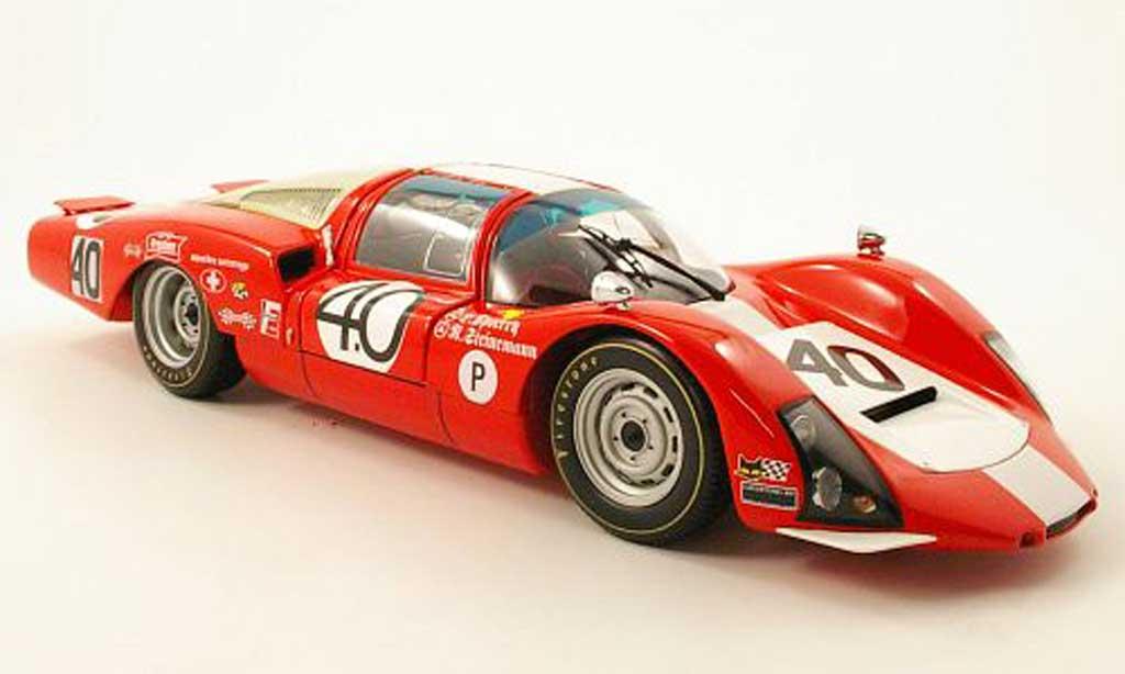 Porsche 906 1967 1/18 Minichamps lh no.40 squadra tartaruga 12h sebring d.spoerry r.steinemann miniature